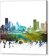 Montreal Cityscape 01 Canvas Print