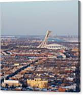 Montreal Cityscape With Olympic Stadium Canvas Print