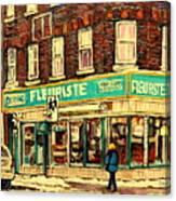 Montreal Cityscenes By Streetscene Artist Carole Spandau Canvas Print