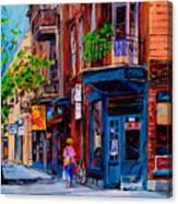 Montreal Depanneurs Canvas Print