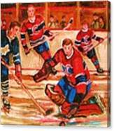 Montreal Forum Hockey Game Canvas Print