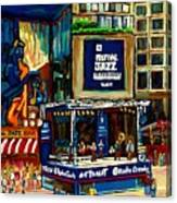 Montreal Jazz Festival Arcade Canvas Print
