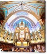 Montreal Notre-dame Basilica Canvas Print