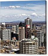 Montreal Seen From Above Canvas Print