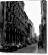 Montreal Street Black And White Canvas Print