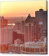 Montreal Sunrise Panorama Canvas Print