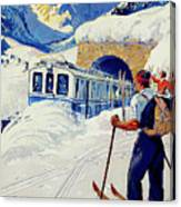 Montreux, Berner Oberland Railway, Switzerland, Winter, Ski, Sport Canvas Print