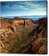 Monument Canyon And Saddlehorn Canvas Print
