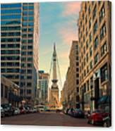Monument Circle - Indianapolis Canvas Print
