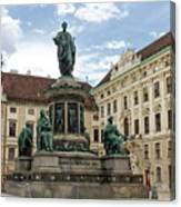 Monument To Emperor Franz I, Innerer Burghof In The Hofburg Imperial Palace. Vienna, Austria. Canvas Print