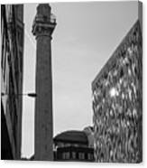 Monument To The Great Fire Of London Bw Canvas Print