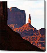 Monument Valley Pano Work D Canvas Print