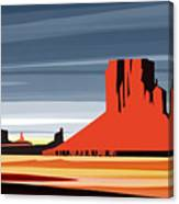 Monument Valley Sunset Digital Realism Canvas Print