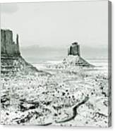 Monument Valley, Winter Canvas Print