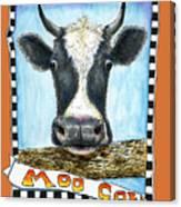 Moo Cow In Orange Canvas Print