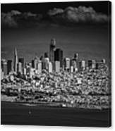 Moody Black And White Photo Of San Francisco California Canvas Print