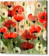 Moody Poppies In The Afternoon Canvas Print