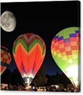 Moon And Balloons Canvas Print