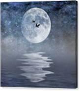 Moon And Sea Canvas Print