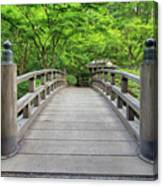 Moon Bridge In Spring Canvas Print