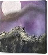 Moon Captured Canvas Print