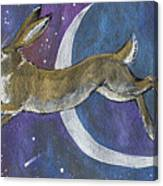 Moon Hare 2018 08 01 Canvas Print