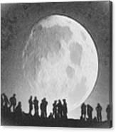 Moon - Id 16236-105000-9534 Canvas Print