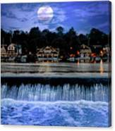 Moon Light - Boathouse Row Philadelphia Canvas Print