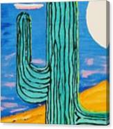 Moon Light Cactus L Canvas Print