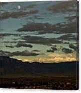 Moon Over Albuquerque Canvas Print