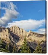 Moon Over Canmore Alberta Canvas Print