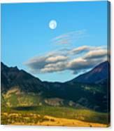 Moon Over Electric Mountain Canvas Print