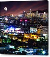 Moon Over Los Angeles Canvas Print