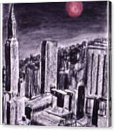 Moon Over Manhattan Canvas Print