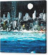 Moon Over Miami Canvas Print