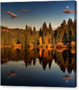 Moon Over Mill Pond Canvas Print