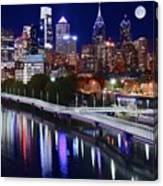 Moon Over Philly Canvas Print