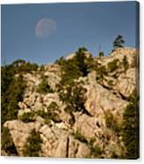Moon Over The Hills Canvas Print
