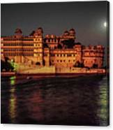 Moon Over Udaipur Canvas Print
