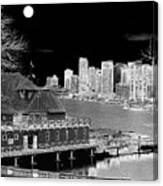 Moon Over Vancouver Canvas Print