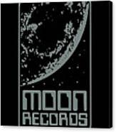 Moon Records Canvas Print