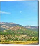 Moon Shine On Anaconda Montana  Canvas Print