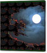 Moon Through Clouds  Photography With Graphic Flavour Created By Navinjoshi At Fineartamerica.co Canvas Print