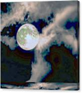 Moon Walk By The Clouds Canvas Print