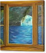 Moon Window Canvas Print