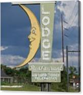 Moon Winx Lodge Sign Canvas Print