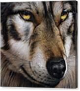 Moon Wolf Canvas Print