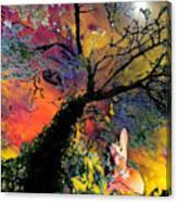 Moonbathing Canvas Print