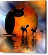 Mooncat's Catwalk Canvas Print