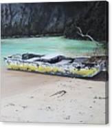 Moonlight At Gold Rock Creek Canvas Print